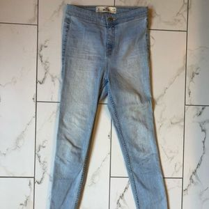 Hollister 1R super skinny light wash jeans